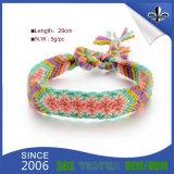 Pulsera barata personalizada del festival / pulseras tejidas tela para el acontecimiento