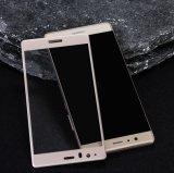 2016 Huawei P9のための最も新しい携帯電話アクセサリ3Dアークの端の熱い曲がるガラススクリーン