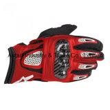 Краснокалильные продавая участвуя в гонке перчатки мотоцикла перчаток кожаный (MAG42)