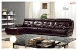 Sofà classico del cuoio del salone del sofà della mobilia domestica (UL-NS175)
