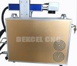 La máquina de grabado móvil de la marca del laser de la fibra del vector para el teclado, arropa, meatal