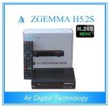 Novo! Afinador gêmeo video DVB S2 Zgemma H5.2s da sustentação H. os 265 Running os mais rápidos Decodeing do receptor da televisão satélite da potência