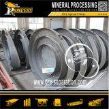 Canal inclinado espiral del proceso de minerales del carbón del niobio del tantalio del tungsteno del cromo del oro