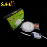 3+2W Dimmable LED Panel rundes Panel RGB-LED