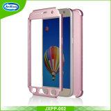 Parte dianteira e parte traseira duas do telefone da caixa 360 partes do caso protetor da tampa cheia para Samsung S7 com vidro Tempered