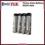 Batería AAA Batería de carbón R03 Um4 1.5V Célula seca en el embalaje de la bandeja de papel