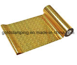 Clinquant d'estampage chaud de couleur métallique d'or pour le papier et le plastique