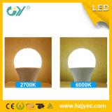 Bulbo de SMD 2835 E27 8W A60 LED con el tubo ligero