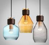 Dekoration-stellen Innenaufhebung-Beleuchtung moderne Farben-hängende Glaslampe her