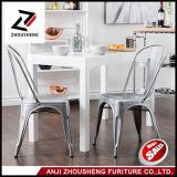 Pátio do frame do Sheetmetal que janta a cadeira do metal galvanizada dentro com Zs-T-01 traseiro