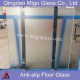 Pisadas de cristal antirresbaladizas laminadas Tempered del suelo y de escalera