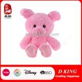 귀여운 분홍색 소녀를 위한 견면 벨벳에 의하여 채워지는 돼지 장난감