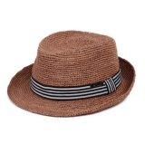 라피아 야자 중절모 모자를 옷을 입는 성과