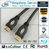 Cabo audio/video do molde do PVC do fio HDMI com o conetor chapeado ouro