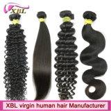 Do Virgin não processado natural do vison de 100% cabelo humano brasileiro Remy