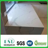 Bancada branca veada da pedra de quartzo da coleção da boa qualidade