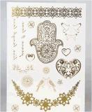 Etiqueta engomada temporal metálica del tatuaje de la manera