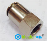 高品質の旋回装置の女性NPTは、点を打つ空気の付属品(DOT-MPLF1/4-N01)に