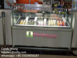 Popsicles/máquinas do Showcase dos congeladores Lolly de gelo/do gabinete indicador das varas/gelado