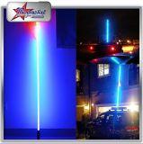 UTV ATVの光ファイバ鞭のようにおかしなジープの見えのためのリモート・コントロールによるアイボリーの管RGB LEDの鞭