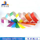 Wristband de papel portable modificado para requisitos particulares del color RFID