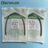 Collegare dentale attivo termico ortodontico del Ni-Ti di Denrum Niti Archwires