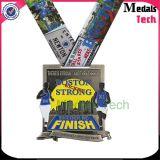 El deporte del título corriente del maratón de la aleación del cinc de 2017 aduanas alineó la medalla de la raza