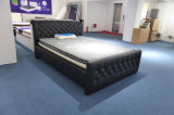Hot - Selling Modern Wooden Furniture Bedroom Set Leather Bed