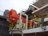 Verwendeter Rettungsboot-geöffneter Marinetyp Faser-Glas-Boote für Verkauf