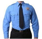 長い袖が付いている人のワイシャツのための警備員のユニフォームをカスタマイズしなさい