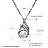 Shell van de manier de Halsband van de Parel van de Halsband van de Tegenhanger van de Vorm van de Daling van Zircon van het Bijvoegsel van de Parel voor Vrouwen