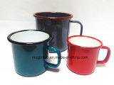 insignia del OEM de la fábrica del esmalte de la taza del regalo de la taza de la leche de la taza de cerveza de la taza del esmalte de 8oz 10oz 12oz 400ml