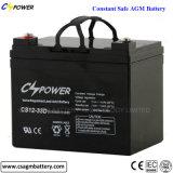 Batterie d'acide de plomb solaire de la batterie 12V55ah d'UPS pour le panneau solaire