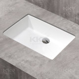 Vanità ovale di superficie solida della stanza da bagno di Kkr sotto i contro dispersori