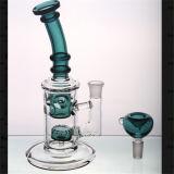Tubos de agua del vidrio verde de cazador con el tazón de fuente que corresponde con Headshower Perc