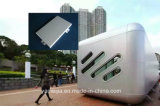 Gris plata de aluminio placa sólida de la pared exterior