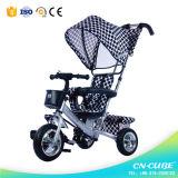 Il triciclo del bambino scherza il triciclo del bambino del triciclo con la barra di spinta