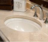Preço cerâmico superior contrário da bacia de lavagem do canto do banheiro do Oval retangular