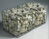 Tipo soldado decorativo jaula del acoplamiento de alambre de Gabion de la piedra del metal para el muro de contención