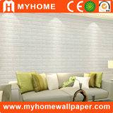 La surface molle de sûreté badine le papier peint auto-adhésif de panneau de mur de la chambre à coucher 3D