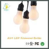 Milchige weiße Birne der Glasdeckel-mittlere Unterseiten-A19 Dimmable LED