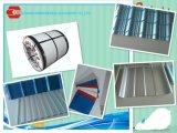 Materiale da costruzione della lamiera di acciaio di alluminio per tetto e la parete