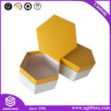 Rectángulo de regalo de empaquetado de papel de gama alta de lujo