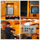 고능률 디젤 엔진과 전기 트럭에 의하여 거치되는 구체 믹서 펌프