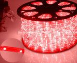 La luz de la cuerda del LED/la luz de tira al aire libre de Light/LED/la luz de neón/la luz de la Navidad/la luz del día de fiesta/la luz del hotel/los alambres ligeros del redondo dos de la barra calientan la tira blanca de 25LEDs el 1.6W/M LED