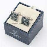 선물 상자 패킹을%s 가진 주문 니스 꽃 디자인 남자의 커프스 단추