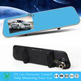para 12V o monitor duplo da câmera do espelho do carro TFT LCD, câmera DVR Xy-G500 do espelho de Rearview do carro de 4.3 polegadas