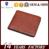Carteira quente do cartão da bolsa do couro genuíno da venda para homens