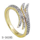 925 het echte Zilveren Nieuwe Ontwerp bedekt de Ring van het Zirkoon
