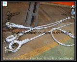 Bride flamande appuyée de câble métallique d'oeil avec la jumelle de proue